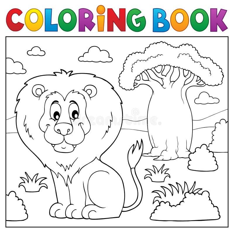 Ämne 3 för natur för färgläggningbok afrikanskt vektor illustrationer