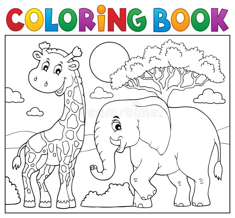 Ämne 8 för natur för färgläggningbok afrikanskt stock illustrationer