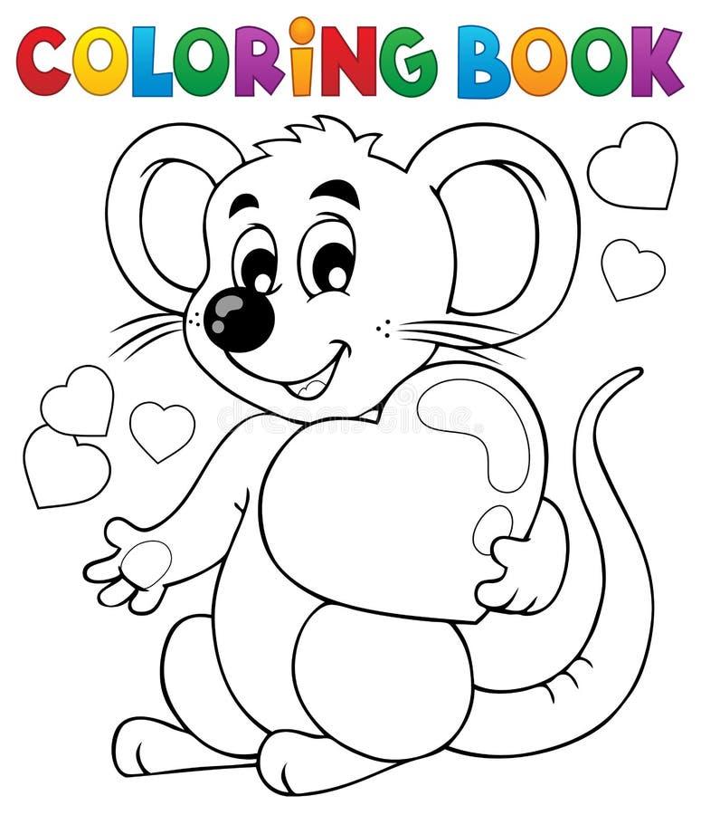 Ämne 1 för valentin för färgläggningbok stock illustrationer