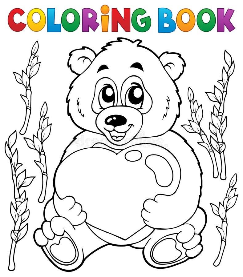 Ämne 4 för valentin för färgläggningbok stock illustrationer
