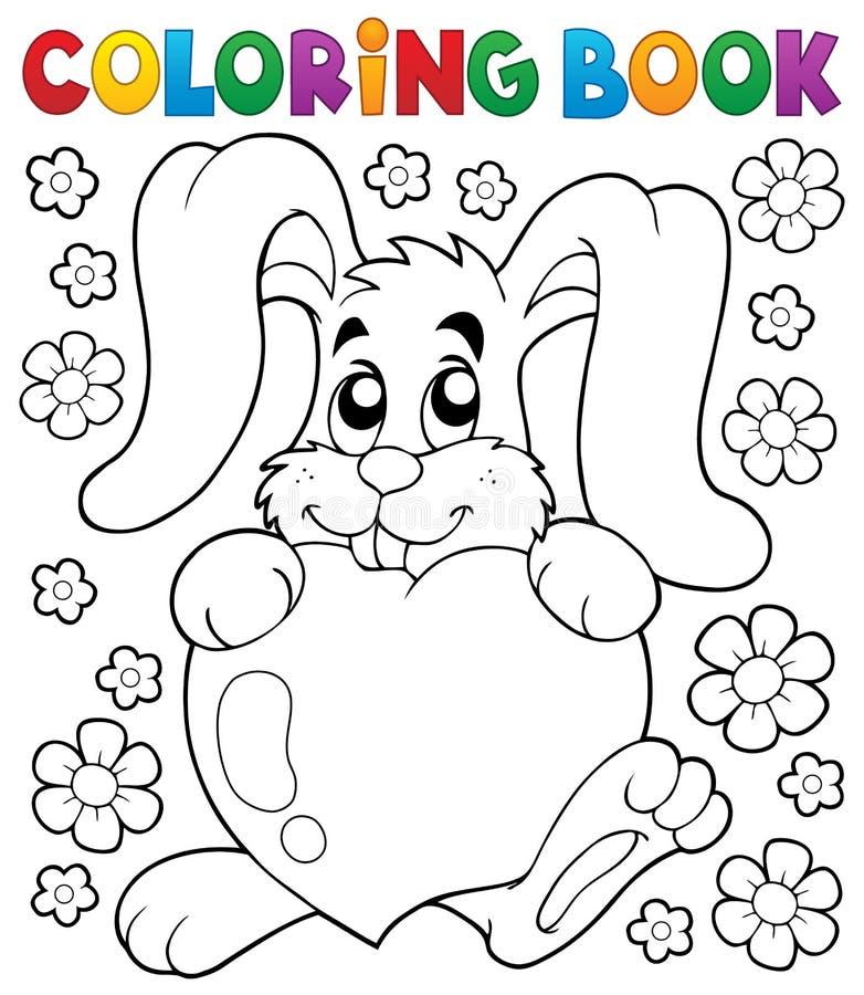 Ämne 2 för valentin för färgläggningbok royaltyfri illustrationer
