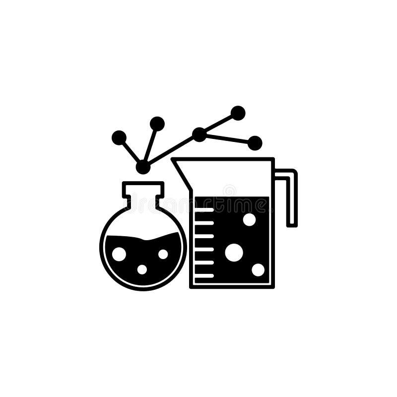 ämne, korrosiv ikon Element i genetik och bioteknik Ikon för grafisk design av högsta kvalitet Tecken och symboler stock illustrationer