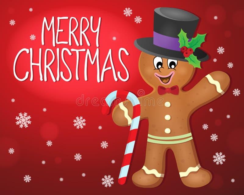 Ämnesbild 4 för glad jul vektor illustrationer