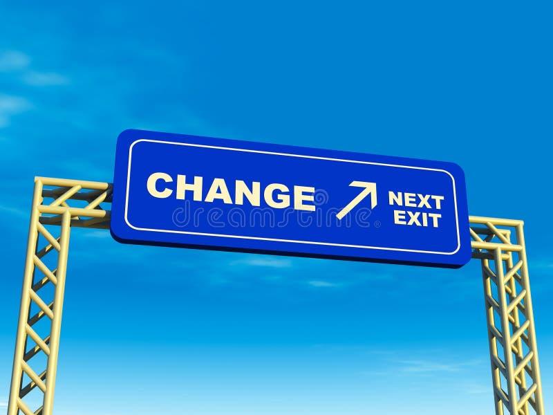 Ändern Sie Ausgang lizenzfreie abbildung