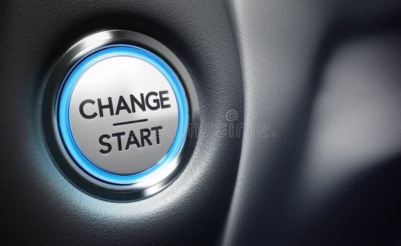 Ändern Sie Beschlussfassungs-Konzept lizenzfreie abbildung