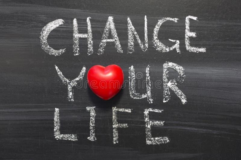 Ändern Sie Ihr Leben lizenzfreie stockfotos