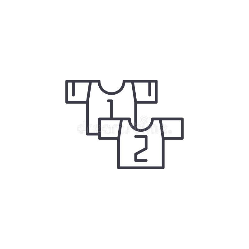 Ändern Sie lineares Ikonenkonzept Ändern Sie Linie Vektorzeichen, Symbol, Illustration stock abbildung