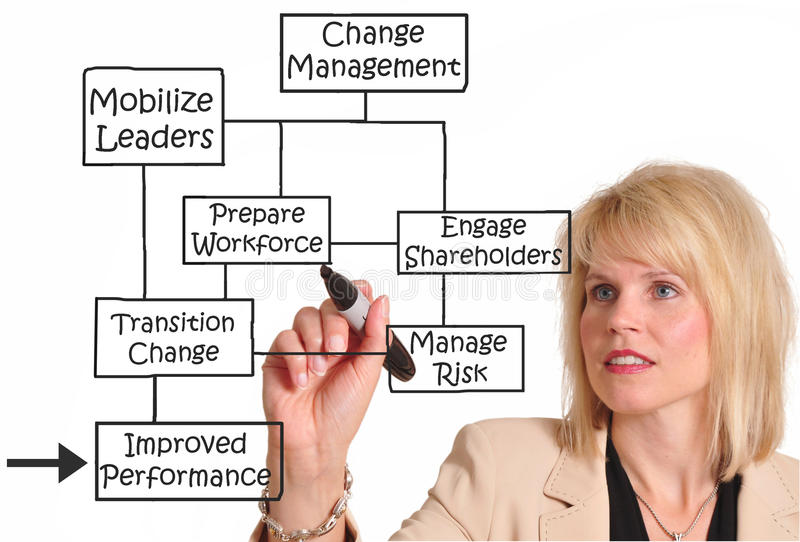 Ändern Sie Management lizenzfreie stockbilder