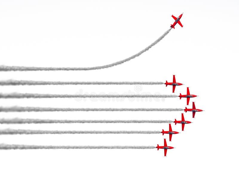 Ändern Sie strategische Richtung stock abbildung