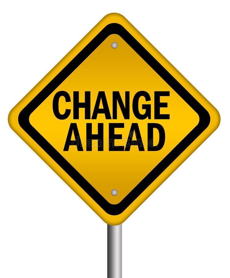Ändern Sie voran Zeichen stock abbildung
