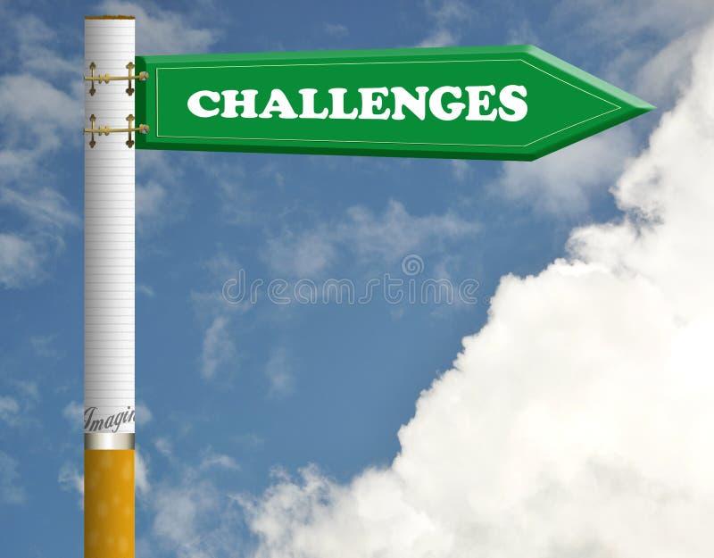 Ändern Sie ZigarettenVerkehrsschild lizenzfreie stockfotografie