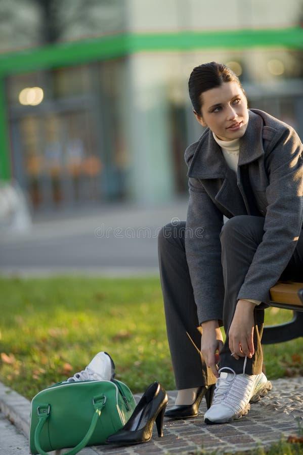 Ändernde Schuhe stockbild