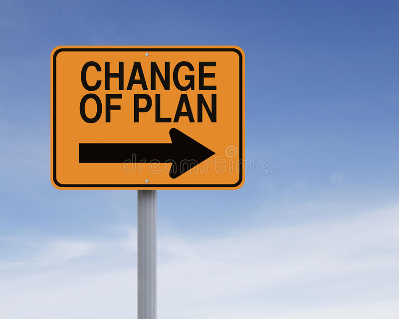 Änderung des Planes stockbild