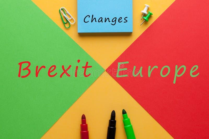 Änderungen Brexit Europa lizenzfreies stockfoto