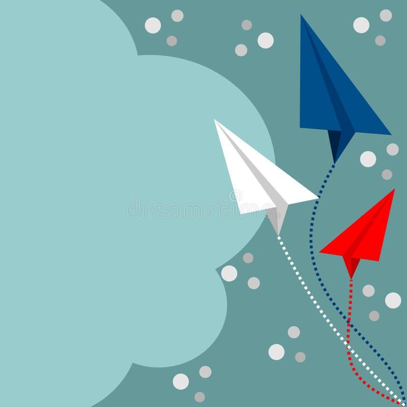 Änderungsrichtung - Geschäftshintergrund-Vektorillustration Ändernde Richtung des Flugzeuges vektor abbildung