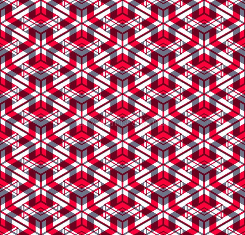 Ändlös färgrik symmetrisk modell, grafisk design Geometriskt in royaltyfri illustrationer