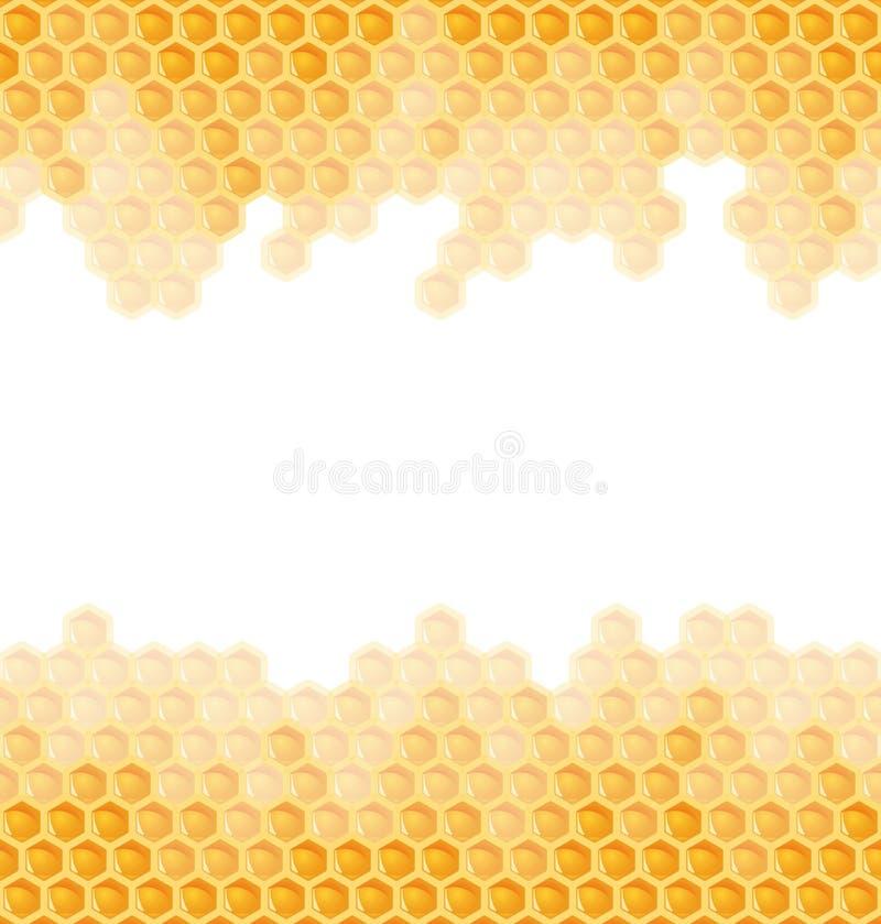 Ändlös honungskakabakgrund - vektor illustrationer