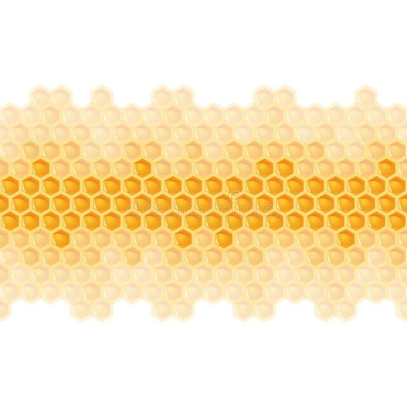 Ändlös honungskakabakgrund - stock illustrationer