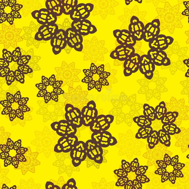 Ändlös islamisk etnisk blom- retro klotterbakgrundsmodell i vektor Perser arabiskan, indiern, ottomanmotiv planlägger royaltyfri illustrationer
