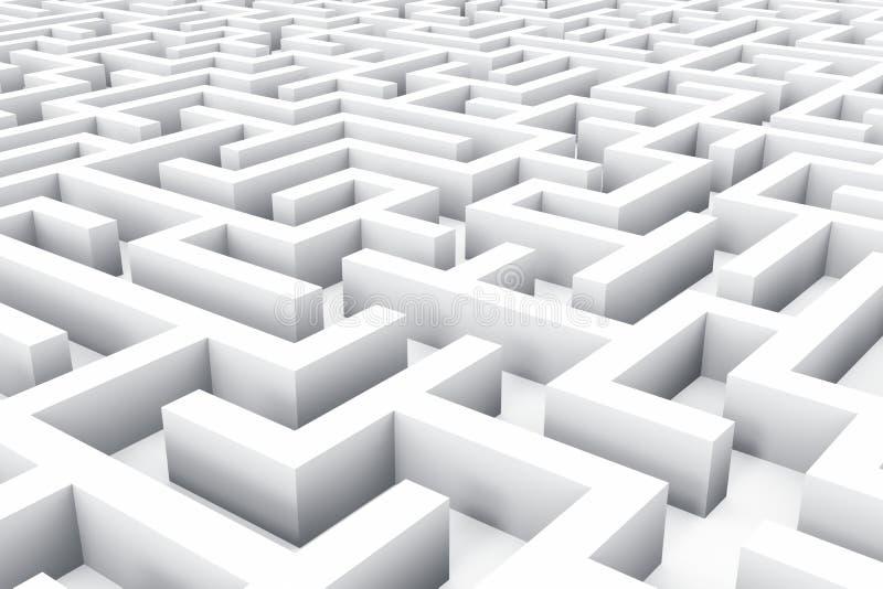 Ändlös labyrint vektor illustrationer