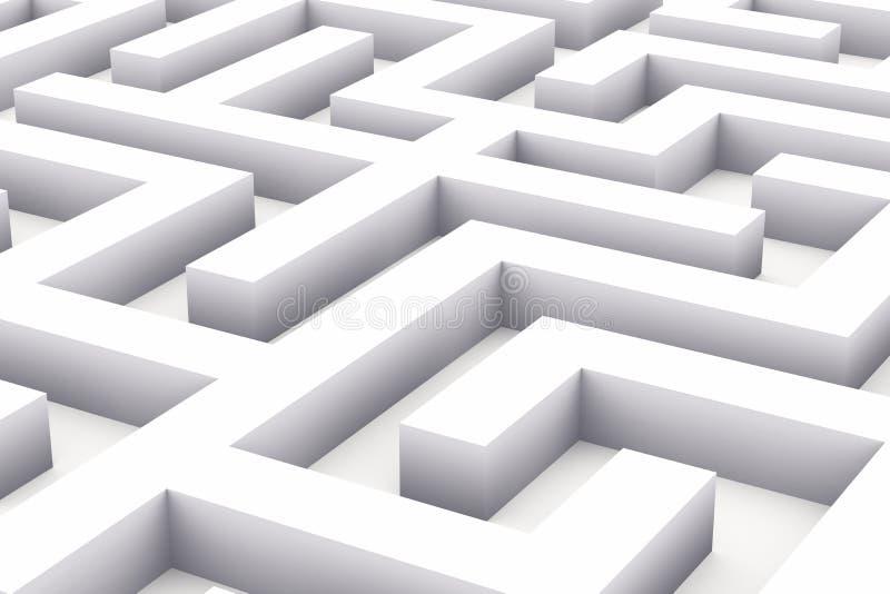 ändlös labyrintwhite vektor illustrationer