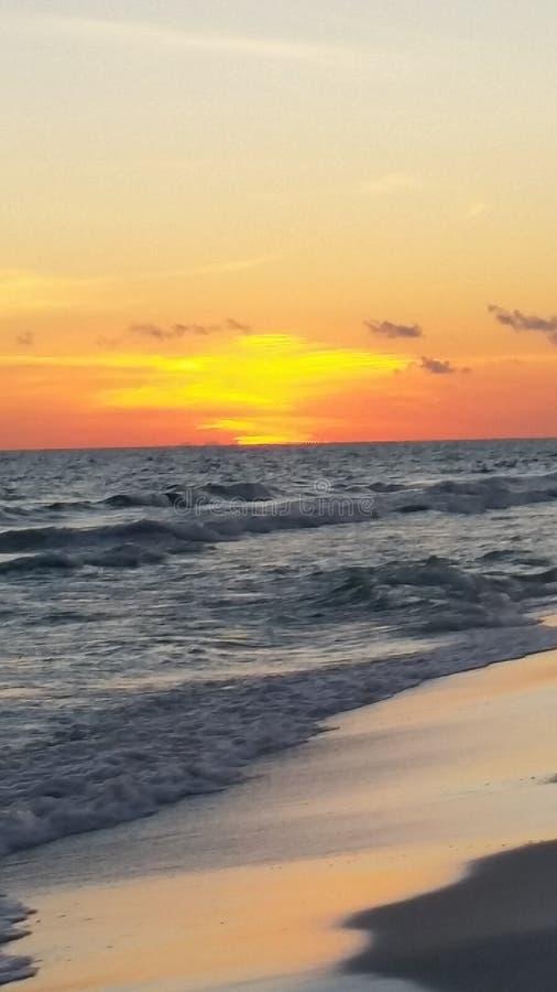 Ändlös solnedgång royaltyfri fotografi