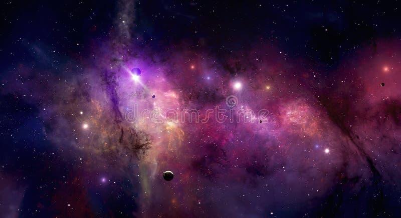 Ändlöst universum stock illustrationer