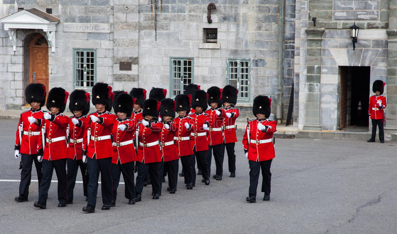 Ändra av vakten royaltyfri bild