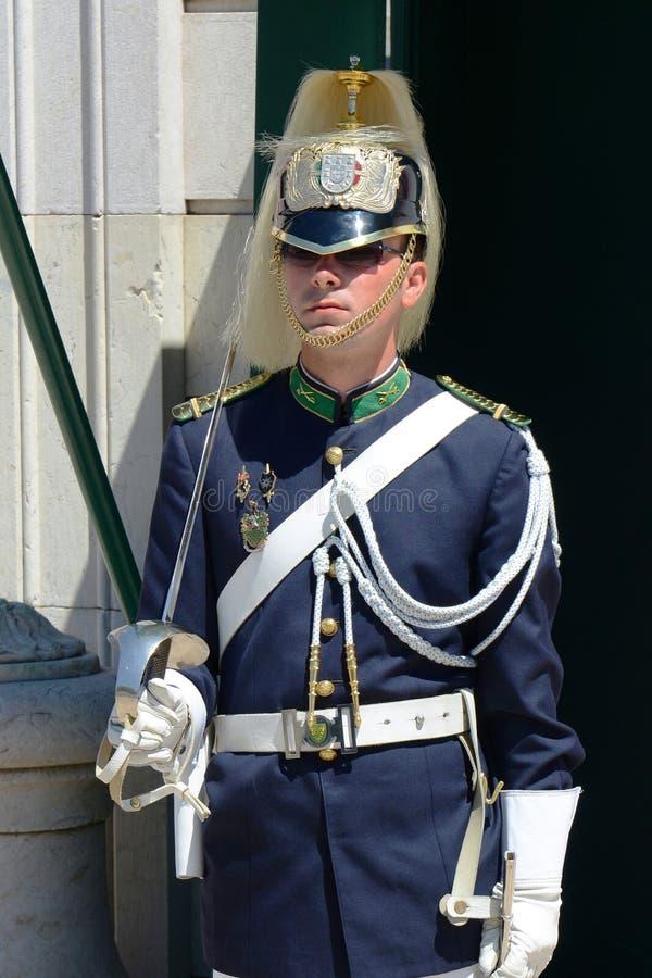 Ändra av vakten i Lissabon, Portugal royaltyfria bilder