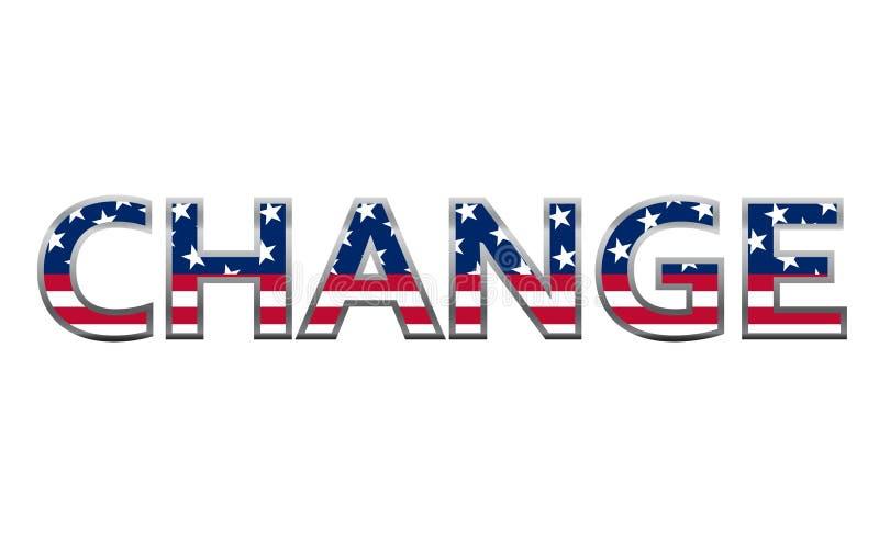 ändra begreppsflaggan USA royaltyfri illustrationer