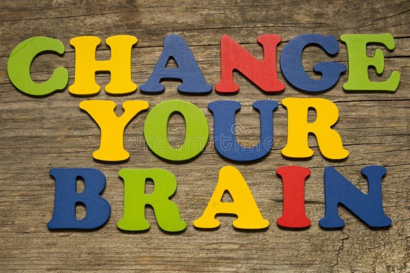 Ändra ditt hjärnbegrepp royaltyfria foton