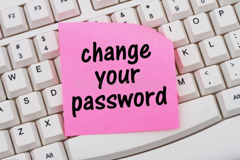 Ändra ditt lösenord arkivfoton