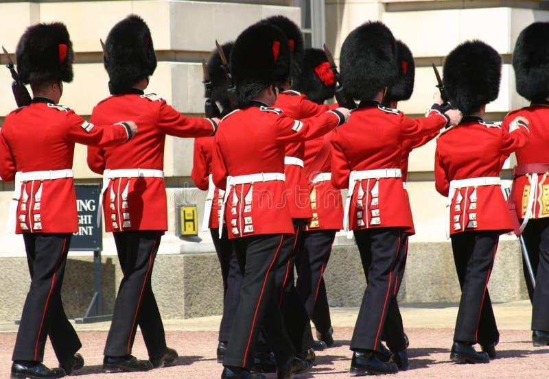 ändra guarden london royaltyfri fotografi