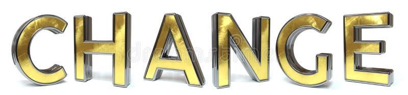 Ändra guld- text vektor illustrationer