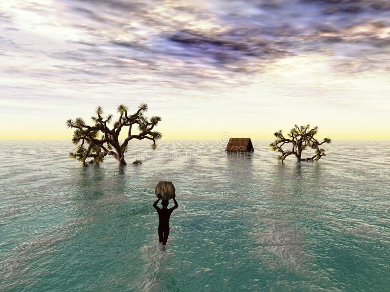 ändra klimatet royaltyfri illustrationer