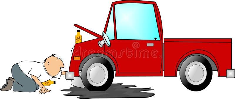ändra olja stock illustrationer