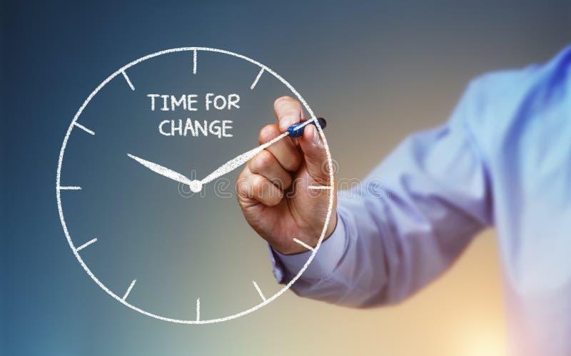 ändra tid arkivbild