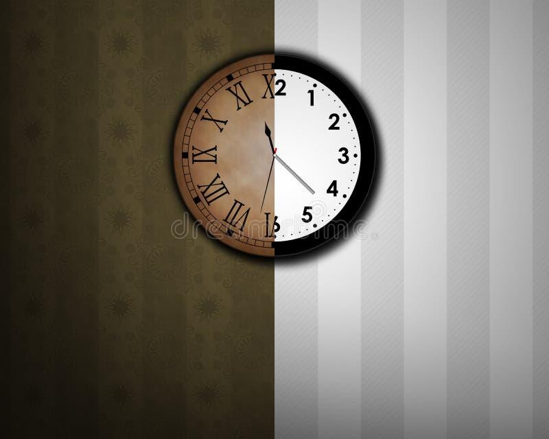 ändra tider vektor illustrationer