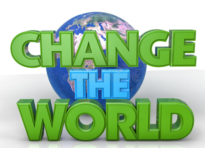 ändra världen vektor illustrationer