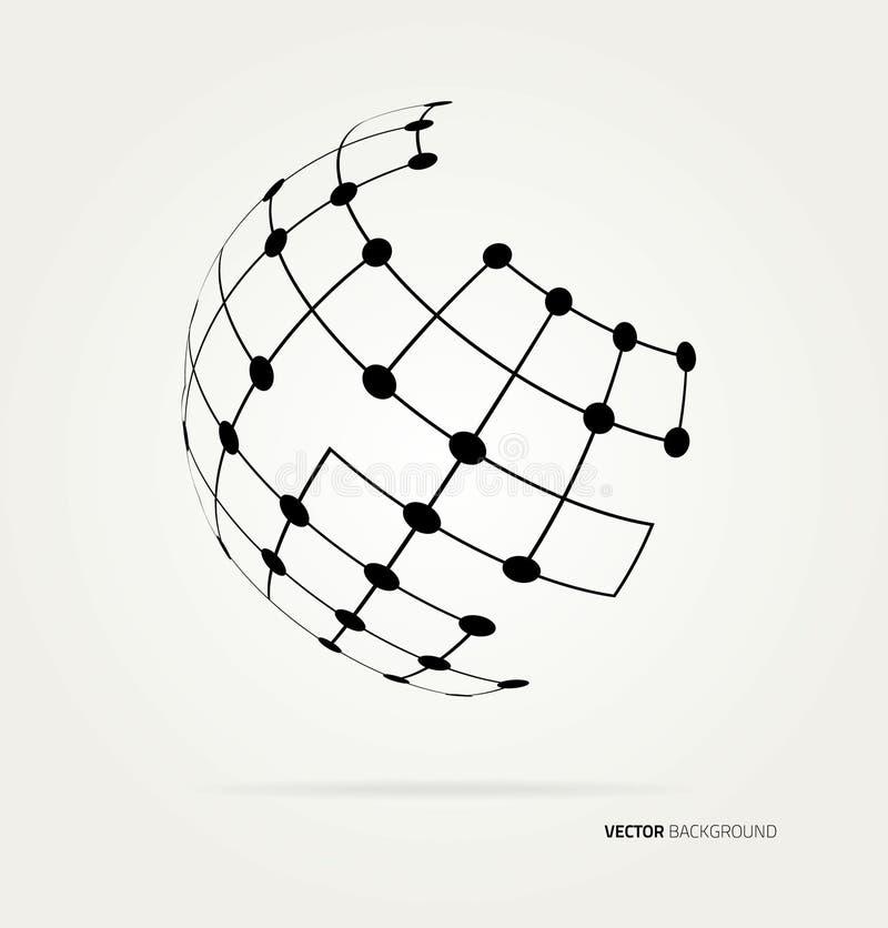 ändra vektorn för jordklotsymbolen enkelt stock illustrationer