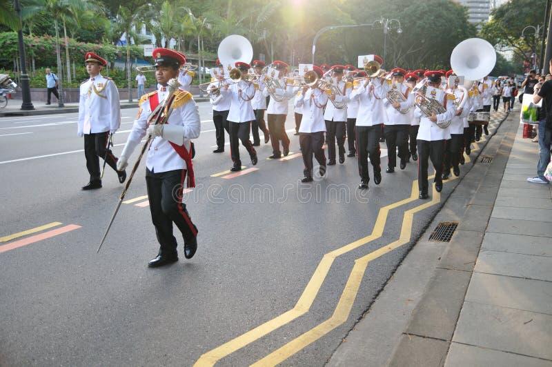 ändrande guards presidents- s singapore arkivfoto