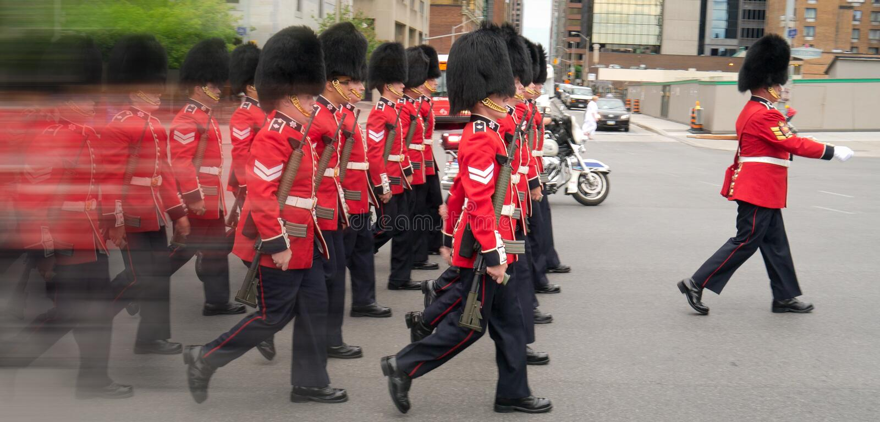 ändrande marschera för guards fotografering för bildbyråer