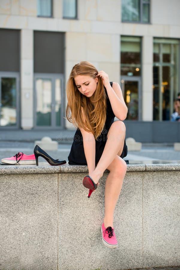 ändrande skor fotografering för bildbyråer