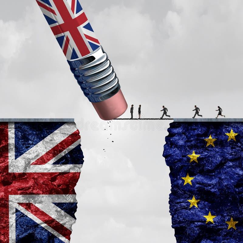 Ändring Britannien för europeisk union stock illustrationer
