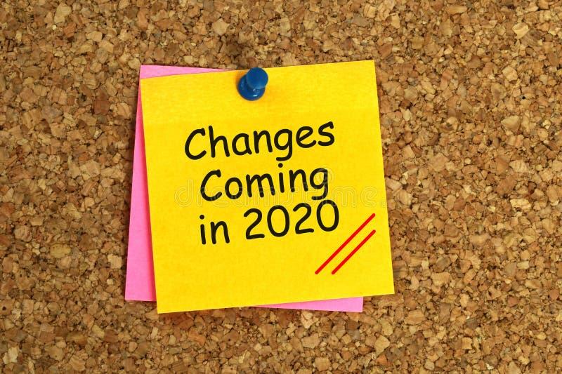 Ändringar som kommer i 2020 arkivbild