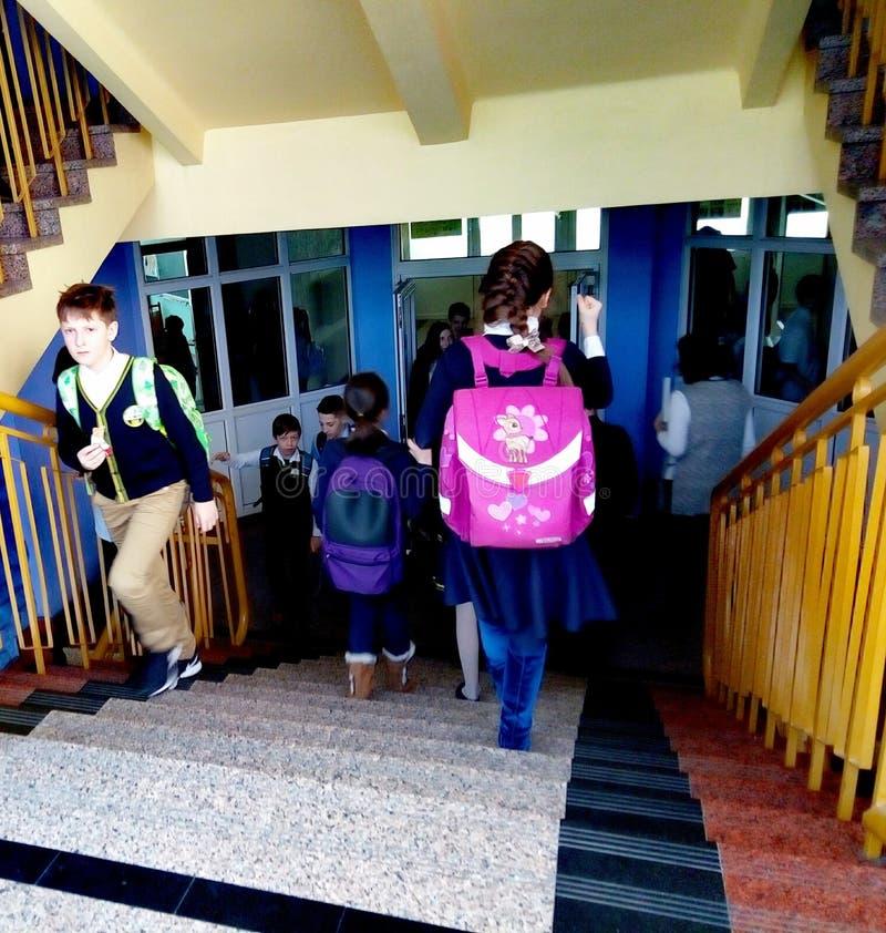 Ändringen mellan kurserna av kurser i grundskola arkivbilder