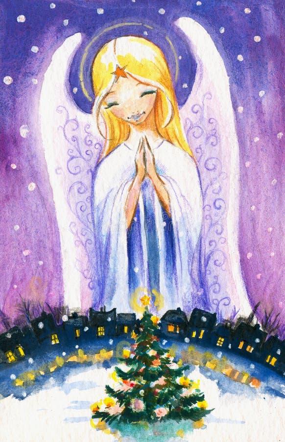 Ängel stock illustrationer