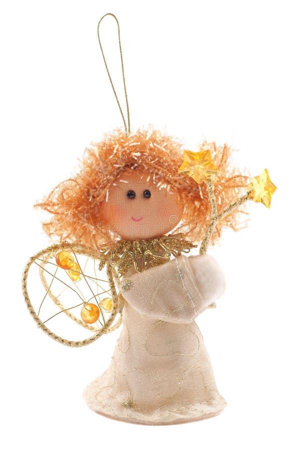 Ängel julgrangarnering fotografering för bildbyråer