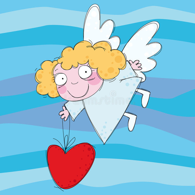 ängel little royaltyfri illustrationer