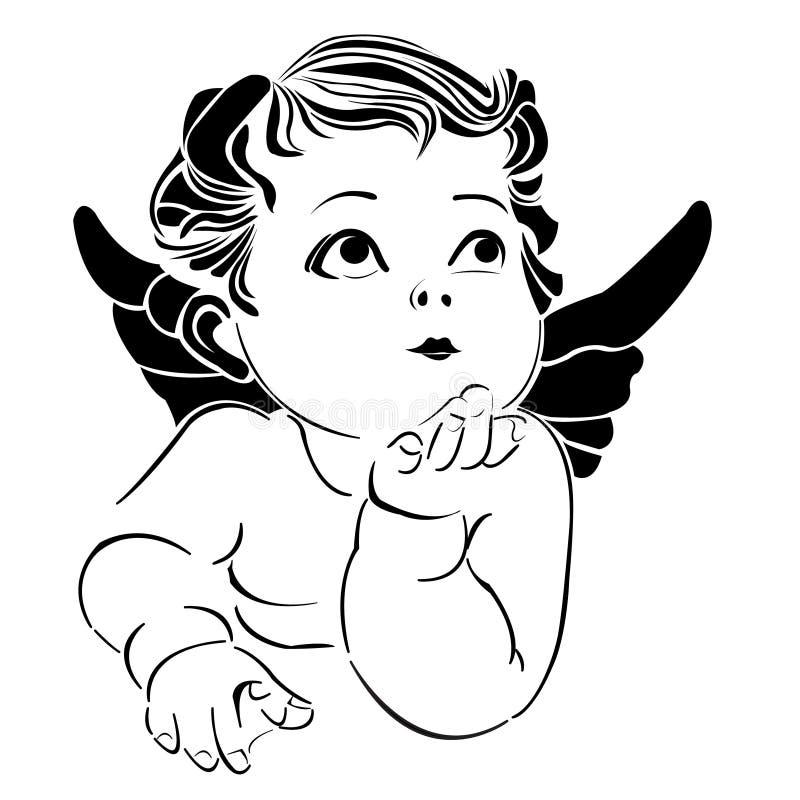 ängel little vektor illustrationer